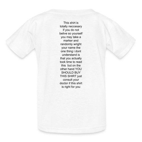this shirt looks awesome on the back - Kids' T-Shirt