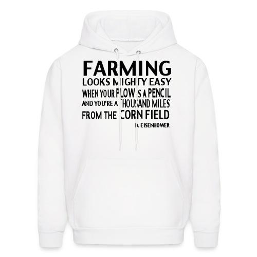 D EISENHOWER Corn Field - Men's Hoodie