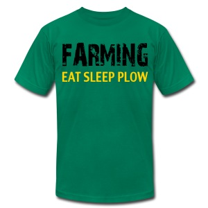 Farming Eat Sleep Plow US/Canada - Men's T-Shirt by American Apparel