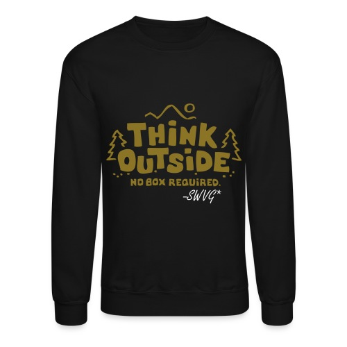 Mens Thinker Crewneck- Black - Crewneck Sweatshirt