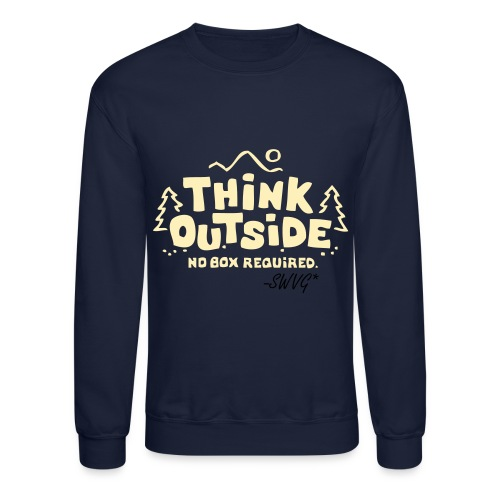 Mens Thinker Crewneck- Navy - Crewneck Sweatshirt