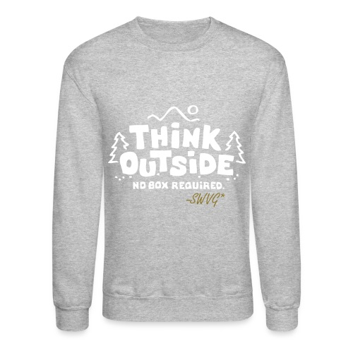 Mens Thinker Crewneck- Grey - Crewneck Sweatshirt