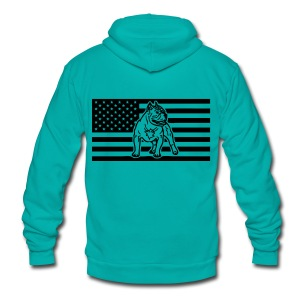 www.dog-power.nl - USA - Unisex Fleece Zip Hoodie