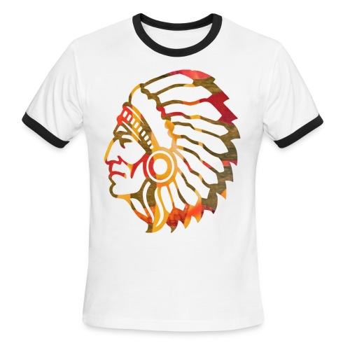 Tri-Color Native American Ringer - Men's Ringer T-Shirt