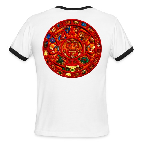 Aztec Calender Ringer - Men's Ringer T-Shirt