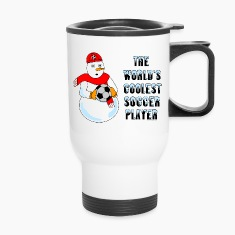 Coolest Soccer Player Bottles & Mugs