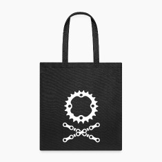 bike chain chainring skull crossbones Bags & backpacks