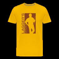 T-Shirts ~ Men's Premium T-Shirt ~ Brown Logo Men's Short Sleeve Premium T-Shirt