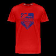 T-Shirts ~ Men's Premium T-Shirt ~ Blue Logo Men's Short Sleeve Premium T-Shirt