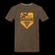 T-Shirts ~ Men's Premium T-Shirt ~ Orange Logo Men's Short Sleeve Premium T-Shirt