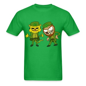 Leopardchaun and Leperchaun - Men's T-Shirt