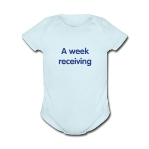 A week    - Short Sleeve Baby Bodysuit