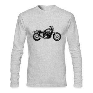 Vintage Motorcycle Long Sleeve T-shirt - Vmax | Motorcycleshirts - Men's Long Sleeve T-Shirt by Next Level