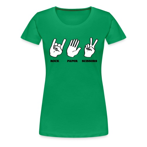 Rock Paper Scissors Music - Women's Premium T-Shirt