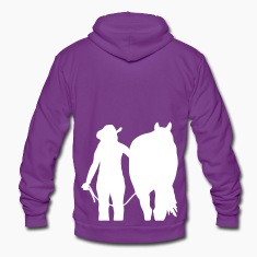 Cowgirl and Horse Trust Zip Hoodies & Jackets
