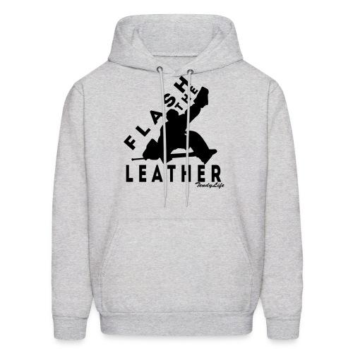 Flash The Leather Hooded Sweatshirt (Black Logo) - Men's Hoodie