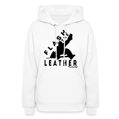 Women's Flash The Leather Hooded Sweatshirt (Black Logo) - Women's Hoodie