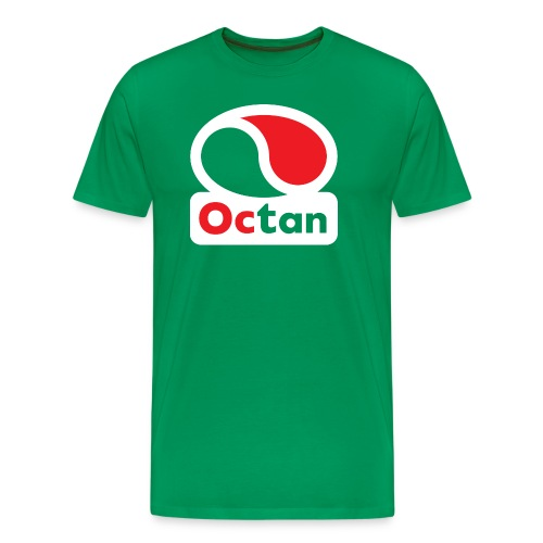 Octan Logo - Green Shirt - Men's Premium T-Shirt