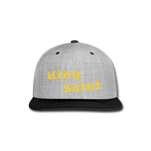 King Saint Snapback-Purple and Gold w/Gold text - Snap-back Baseball Cap