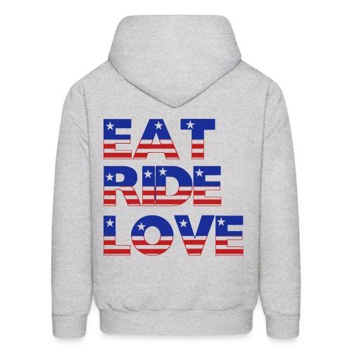 Eat, Ride, Love Hooded Sweatshirt - Men's Hoodie