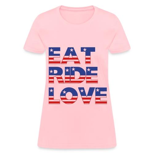 Eat, Ride, Love Standard T-Shirt - Women's T-Shirt