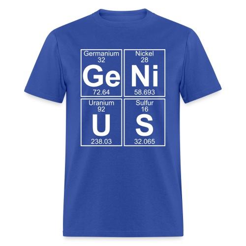 Ge-Ni-U-S (genius) - Full - Men's T-Shirt