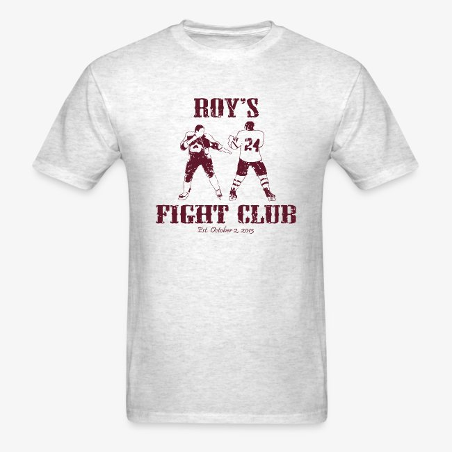 Roy's Fight Club - Burgundy - Mens T-Shirt