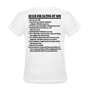 Rules For Dating My Son Womens T-shirt