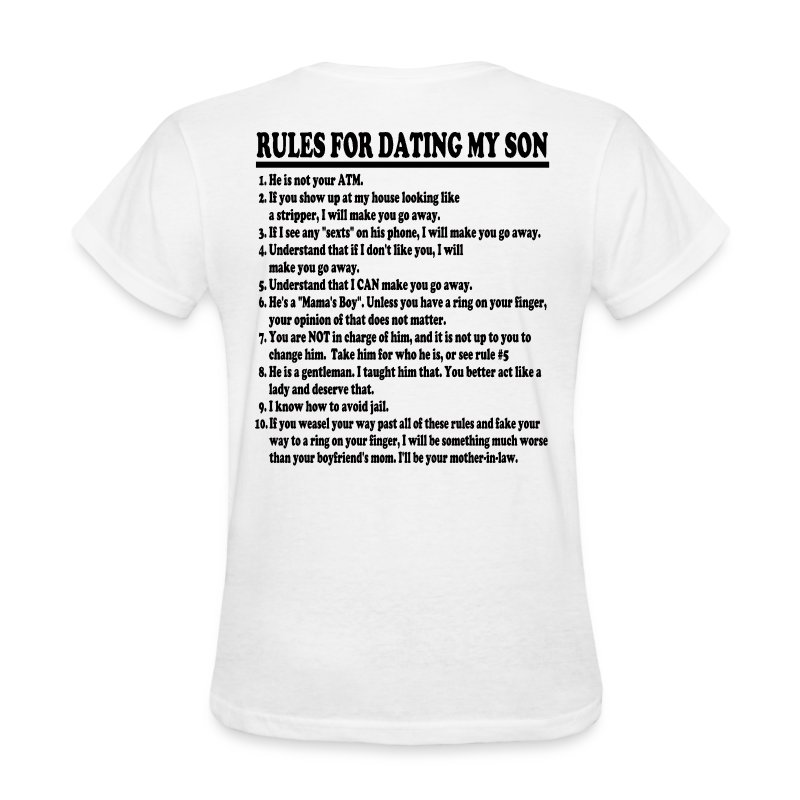 Dating my son t shirt