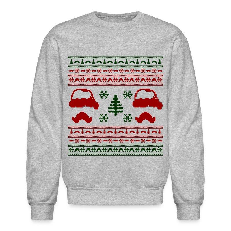 Funny mustache ugly christmas sweater sweatshirt spreadshirt