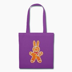 gingerbread rabbit bunny cony hare cookie biscuit Bags & backpacks