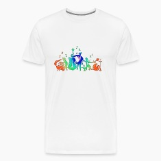 Colorful Jazz Band T-Shirts