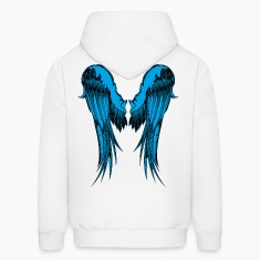 Blue Wings Hoodies