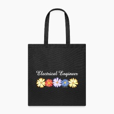 White Electrical Engineer Asters Bags & backpacks