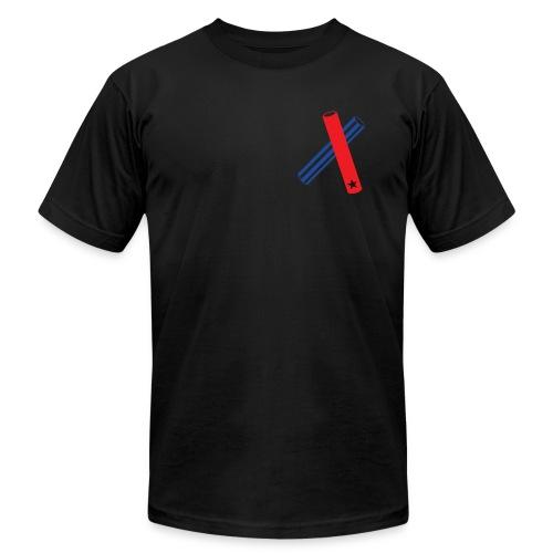 Clave (black, transparent flag, AA) - Men's Fine Jersey T-Shirt