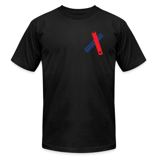 Clave (black, transparent flag, AA) - Men's  Jersey T-Shirt