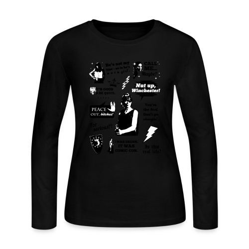 Charlie Quotes - Women's Long Sleeve Jersey T-Shirt