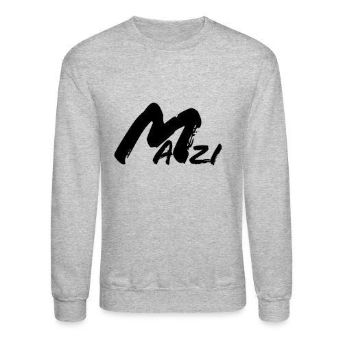 Mazi Black Letter Sweatshirt - Crewneck Sweatshirt