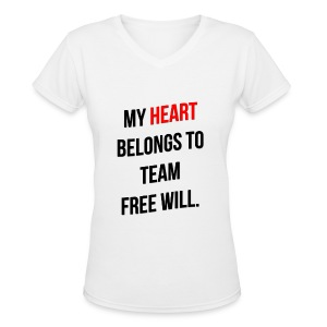 My Heart Belongs to TFW - Women's V-Neck T-Shirt
