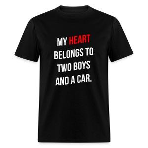 My Heart Belongs to 2 Boys - Men's T-Shirt