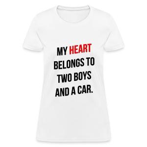 My Heart Belongs to 2 Boys - Women's T-Shirt
