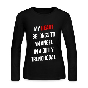 My Heart Belongs to Castiel - Women's Long Sleeve Jersey T-Shirt