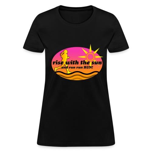 Run with the Sun (women) - Women's T-Shirt