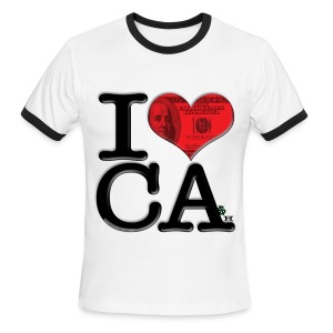 I Heart California - CAsh - Men's Ringer T-Shirt