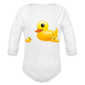 ducks - Long Sleeve Baby Bodysuit