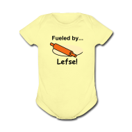 Baby & Toddler Shirts ~ Baby Short Sleeve One Piece ~ Fueled by Lefse