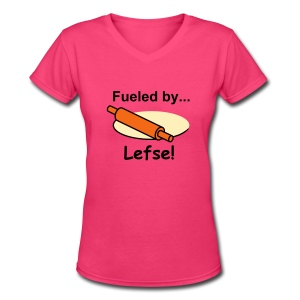Fueled by Lefse - Women's V-Neck T-Shirt