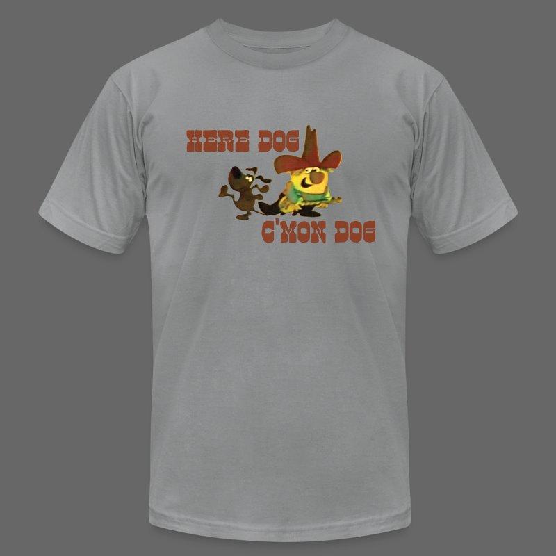 Here Dog, C'mon Dog - Men's Fine Jersey T-Shirt