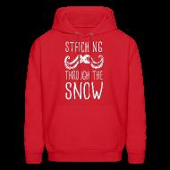 Hoodies ~ Men's Hoodie ~ Staching Through the Snow Hoodie
