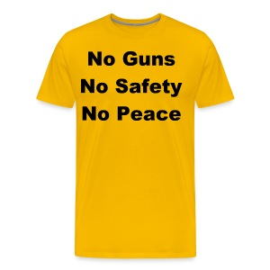 No Guns (Front only) - Men's Premium T-Shirt